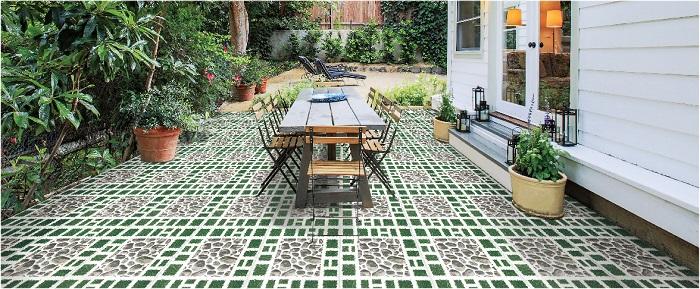 Gạch lát nền Viglacera D408 kích thước 40x40 dùng cho sân vườn đẹp