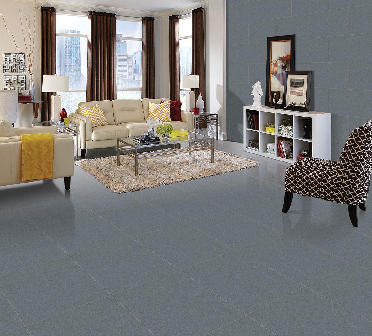 Gạch lát nền viglacera ECO-M602 tôn nên vẻ đẹp sang trọng cho phòng khách
