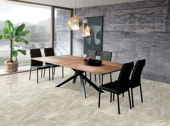 Gạch lát nền Viglacera ECO-603 sử dụng làm gạch lát nền phòng tiếp khách