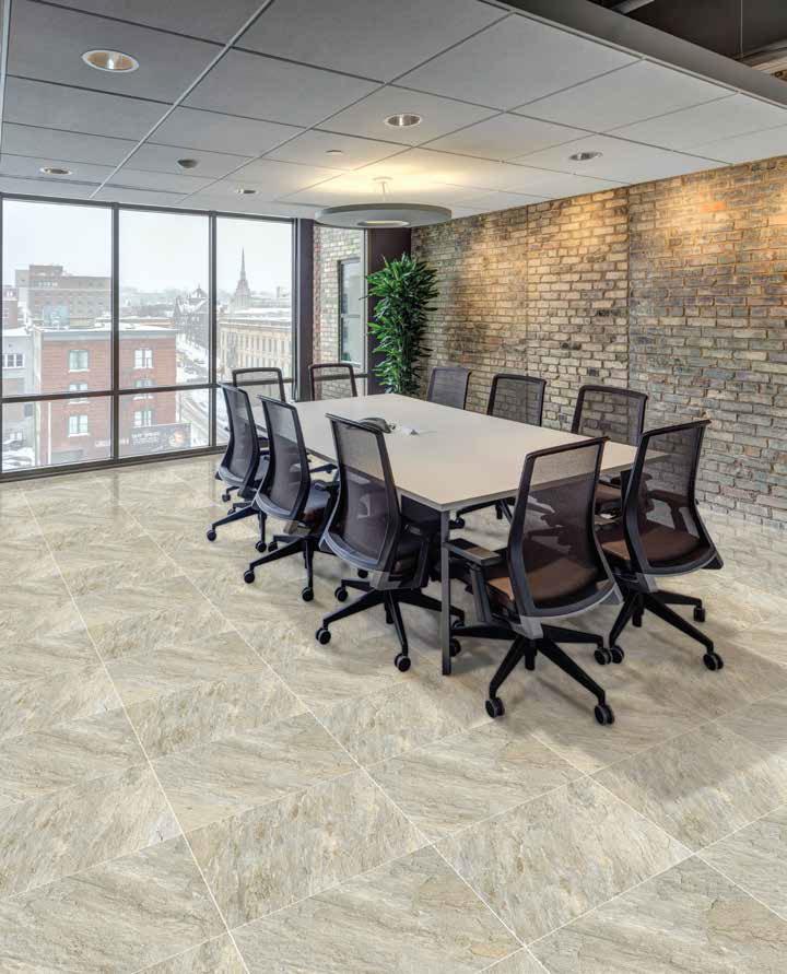 Gạch lát nền Viglacera ECO-603 sử dụng làm gạch lát nền phòng họp