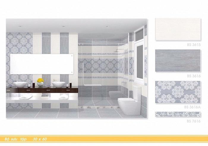 Phòng mẫu Gạch ốp tường Viglacera 30x60 BS3616