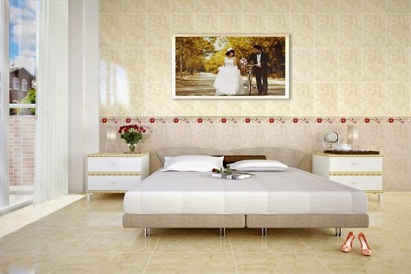 Chọn gạch ốp tường phòng ngủ đẹp nên xem về kích thước phù hợp