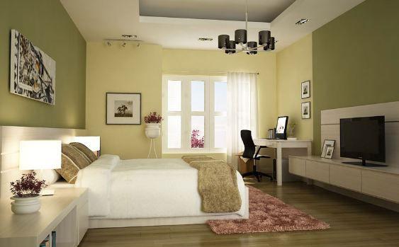 Gạch ốp tường Viglacera BN604 màu xanh ngọc mang đến cho phòng ngủ một cảm giác dịu mát từ thiên nhiên