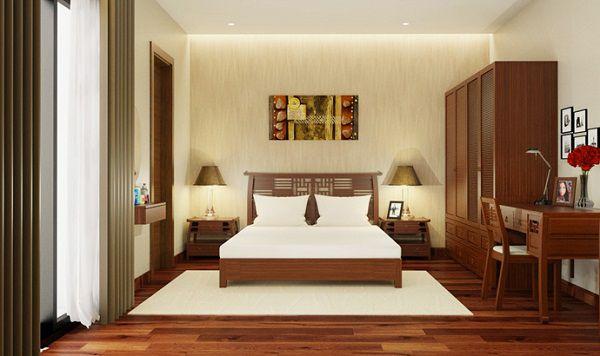 Mẫu Gạch Viglacera TS3-615 ốp tường kết hợp với gạch lát nền giả gỗ chắc chắn sẽ mang đến cho bạn một phòng ngủ tuyệt vời