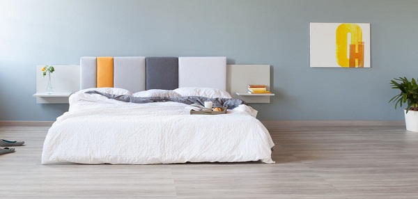 Màu gạch lát nền hài hòa với không gian nội thất và màu tường căn phòng