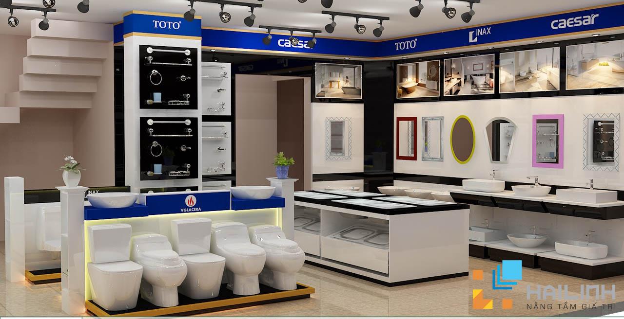 khu trưng bày của các thiết bị vệ sinh