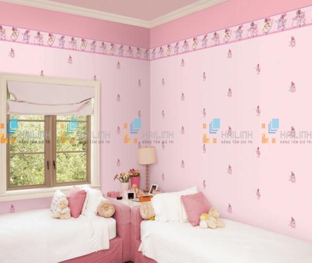 gạch ốp tường phòng ngủ màu hồng-07