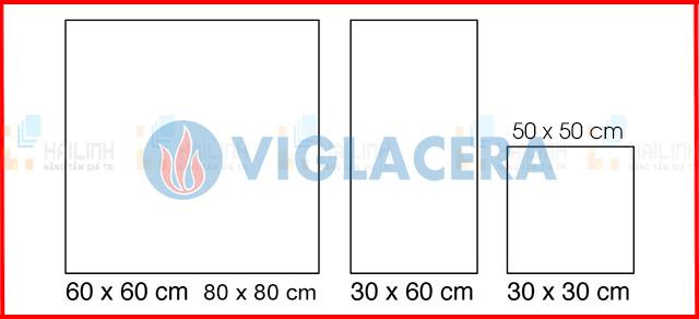 Các kích thước phổ biến của gạch lát nền Viglacera