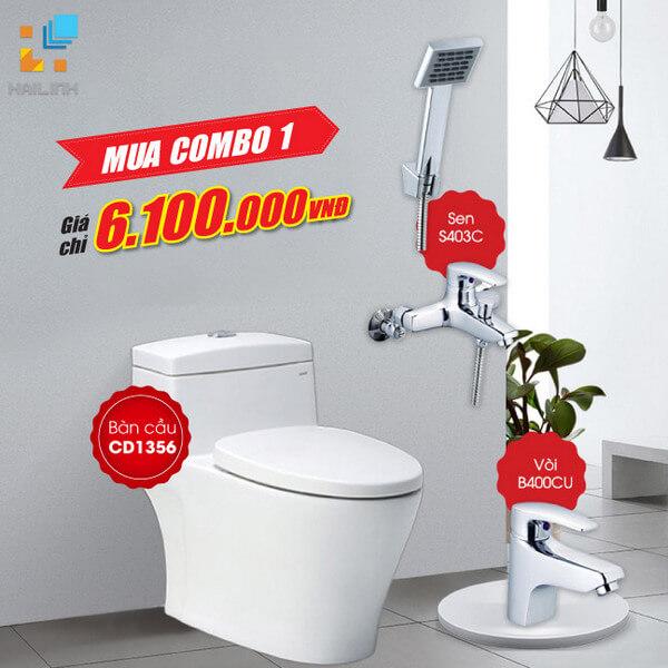 COMBO thiết bị vệ sinh Caesar giá SỐC chỉ 6.100.000