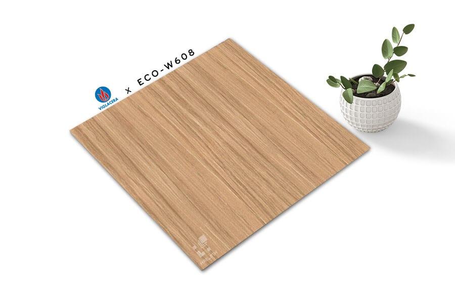 Gạch lát nền giả gỗ 60x60 phòng khách - 08