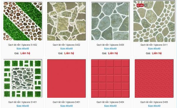 Một số mẫu gạch lát sân vườn Viglacera vân sần được sử dụng nhiều nhất