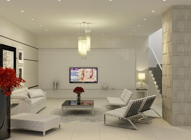 4 mẹo chọn màu gạch ốp tường cho phòng khách